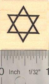 (Star of David Rubber Stamp)