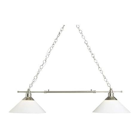 Último diseño KROBY lámpara doble, Níquel-plateado, vidrio ...