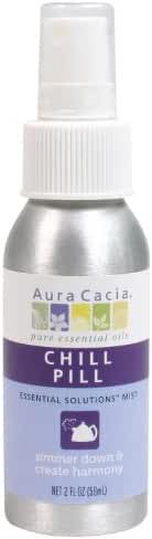 Aura Cacia Essential Solutions Mist, Chill Pill, 2 Fluid Ounce