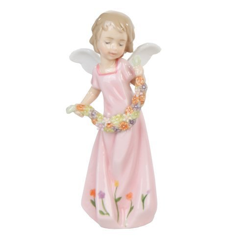 Pacific Giftware Spring Mix Floral Angel Girl Religious Statue Fine Porcelain Figurine, 5.25