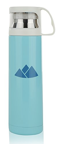Travel Mug Stainless Steel Thermos Vacuum Mug 16oz | Contemporary Insulated Commuter Tumbler for Office, Home, Camping, School, Hiking | 16 Ounce Insulated Thermal Cup for Kids and Adults