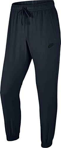 NIKE Men's Sportswear Players Woven Joggers (X-Small, Dark Obsidian/White) ()