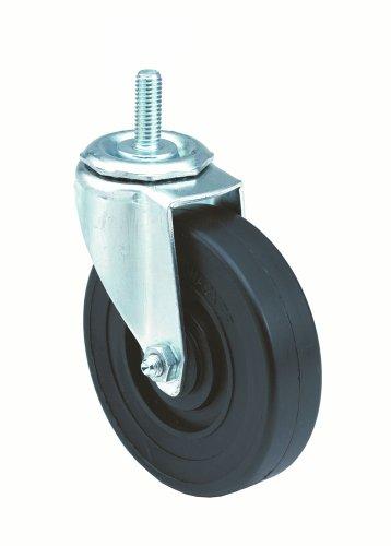 E.R. Wagner Stem Caster, Swivel, Polyolefin Wheel, Plain Bearing, 280 lbs Capacity, 5' Wheel Dia, 1-1/4' Wheel Width, 5-1/2' Mount Height, 1/2'-13 Stem Dia, 1' Stem Height