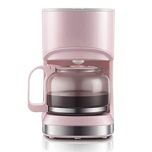 X-L Coffee Maker,Filter Coffee Machine,Anti-Drip System,Permanent Reusable Filter,Stainless Steel Filter Coffee Maker With 10 Minute Brew Time,550 W (Color : Pink)