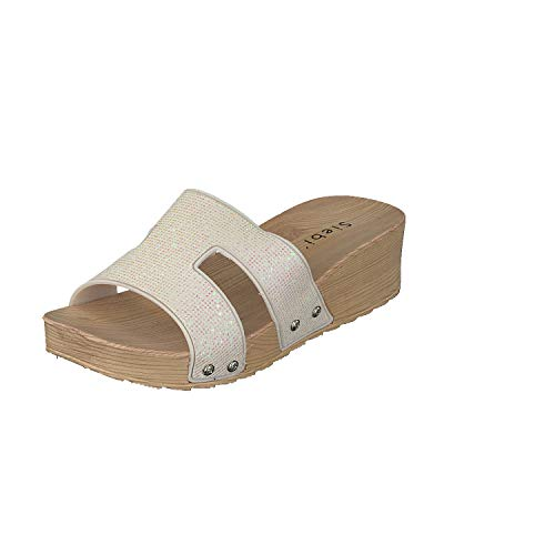 Bianco Donna Scarpe Siebi's Sandali Spiaggia Da Ciabatte vnwxAv8qYC