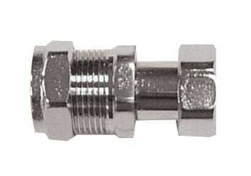 "15mm x 1//2/"" Straight Chrome Tap Connector"