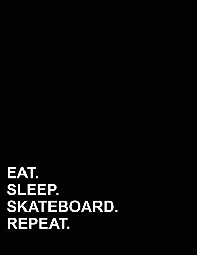 Eat Sleep Skateboard Repeat: Polar Graph Paper Notebook - 1/4 Inch Centered Technical Sketchbook ()