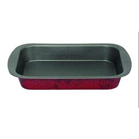 IMF Bandeja Horno, Acero, Rojo, 37 x 27 x 5 cm: Amazon.es: Hogar