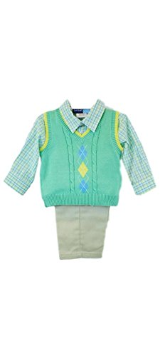 Good Lad Green Argyle Sweater Vest Set (24M)