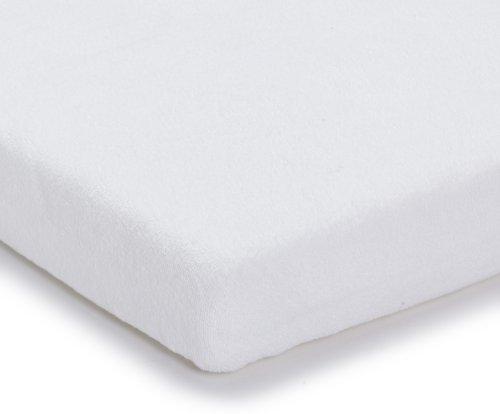 Julius Zöllner 8300113100 - Spannbetttuch Frottee für Kinderbett, Größe: 60 x 120 cm/70 x 140cm, Farbe: weiß