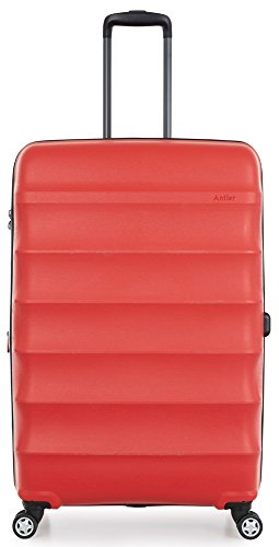Antler Juno DLX 30'' Expandable Hardside Checked Spinner Luggage (Red) by Antler