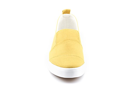 Mustard Slip Canvas Sneakers Women's On CALICO KIKI Casual 1wtaq0f