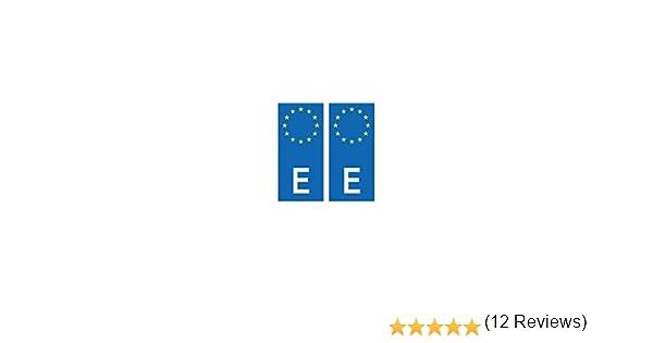 Placa autoadhesiva de matriculación con el distintivo europeo de ...