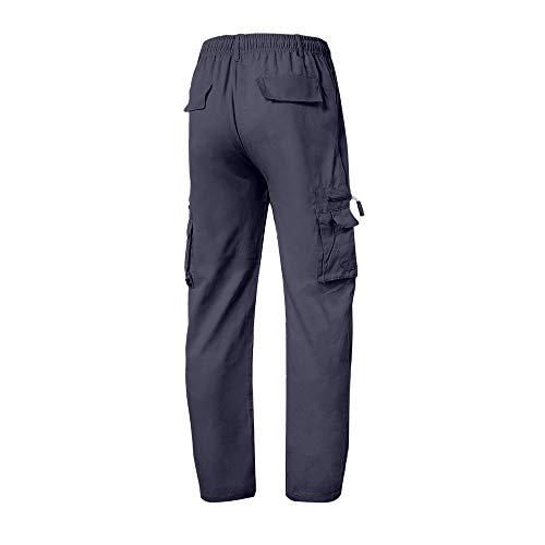 Logobeing Pantalones de Chandal Hombre Trabajo Monta Chino Jogging Chándal Algodon Deportivo para Correr Hombres Pantalon Deporte Hombre con Cordones Armada