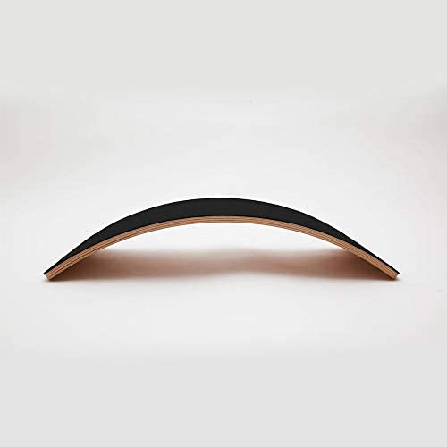 Planche d'équilibre avec feutre Noir en bois - Starter - WOBBEL