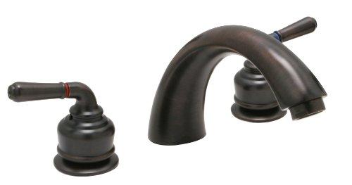 Huntington Brass 63730-20 8-Inch - 16-Inch Builders 2-Handle Deck-Mount Roman Tub Faucet, Antique ()