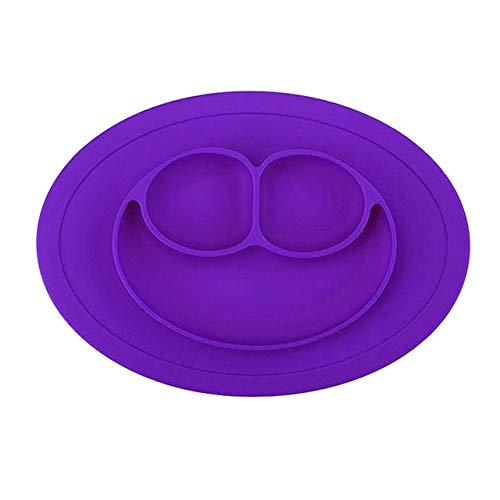 Smiles Lunch - Fiesta Best Sale Baby Dining plate health Lovely smile face lunch tableware Kitchen Fruit Dishes Children bowl: Purple