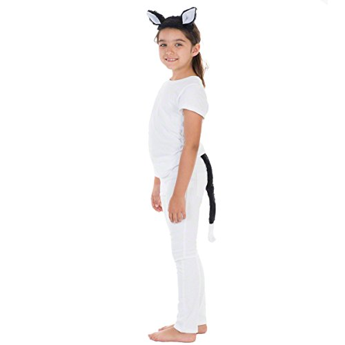 Charlie Crow Cat Ears & Tail Set for Kids one Size fits All 3+ Years Black]()