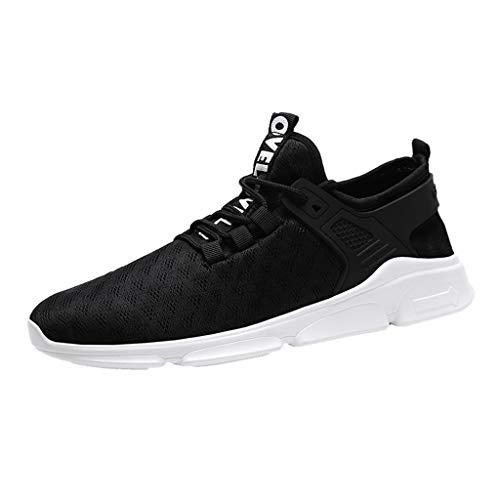 Haforever Men's Slip-on Mesh Sneakers Lightweight Breathable Athletic Running Walking Tennis Sports Shoes