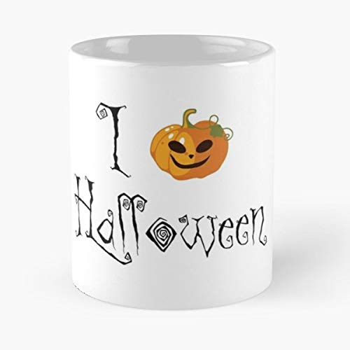Halloween Pumpkin 31 October Scary - 11 Oz Coffee Mugs Unique Ceramic Novelty Cup, The Best Gift For Halloween. -