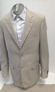 B00D3D59GG New Men's 2 Button Tan / Beige Dress Suit – Includes Jacket and Pants