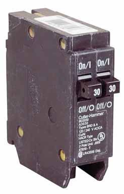 Tandem Duplex Single Pole Circuit Breaker (BD3030)