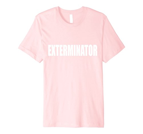 Exterminator Costumes - Mens Exterminator Shirt Halloween Costume Funny Retro Distressed 2XL Pink