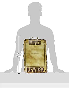 Western Wanted Sign Party Accessory The Beistle Company 54330 slotted to hold 8 x10 photo 1 count