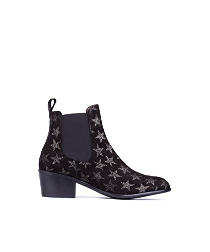 MIRALLES Star Black 29253 Suede Boot Ankle PEDRO UFHwxH