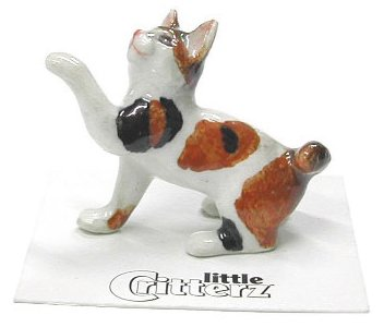 Little Critters Neko Japanese Bobtail Kitten Miniature Porcelain Figurine