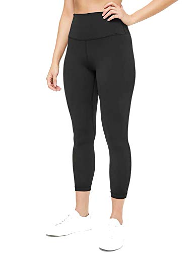 High Waisted Yoga Leggings for Women Athletic Gym Running Capri Tights Compression Exercise Workout Pants Squat-Proof (XL, Black)