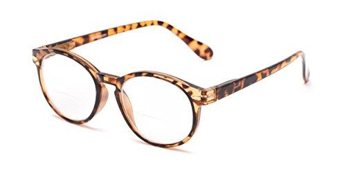 Readers.com The Actor Bifocal +2.25 Dark Brown Tortoise Round Tortoiseshell Glasses Bifocal Reading - Dark Glasses Tortoiseshell
