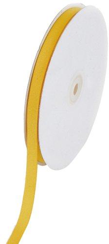 Creative Ideas Solid 3/8-Inch Grosgrain Ribbon, 50-Yard, Light Gold