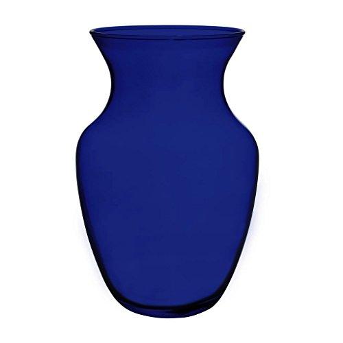Floral Supply Online 8 Cobalt Blue 999 Rose Vase- Decorative Glass Flower Vase for floral arrangements, weddings, home decor or office.