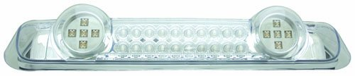 Crystal Clear 3rd Brake Light - IPCW LED3-538DC Crystal Clear LED Third Brake Light with Cargo Light - 1 Piece