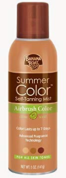 Banana Boat Summer Color Self-Tanning Mist Airbrush Color, Fresh Citrus, 5-Ounce (Pack of 3)
