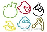 Angry Birds 24-pack Licensed Silly Bandz with Free Carabina to Hold the Bands