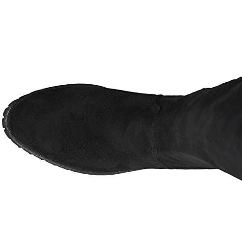 1 dessus Tamaris Du Noir 31 Au Femme Genou Bottes black 25571 IZwfHqZv