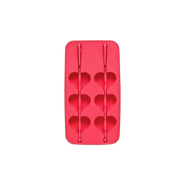 Premier Housewares 0804934 Vaschetta per Il Ghiaccio, Forma di Cuore in TPR, Fuchsia 1 spesavip