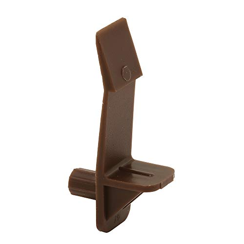 (Prime-Line Products U 9117 Self-Locking Shelf Support Peg with 3/4-Inch Shelf, 1/4-Inch, Brown,(Pack of 6) )