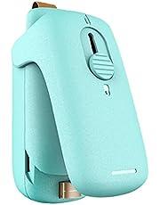 Mini Bag Sealer Portable Handheld 2 I 1 Kök Värmeförseglingsmaskin Grön (inget Batteri)