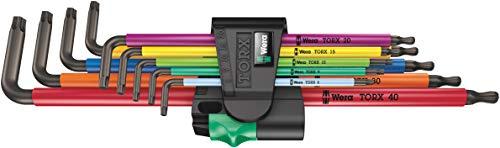 Wera 05024480001 967/9 TX XL Multicolor 1 L-Key Set, TORX, Long, (Pack of 9)