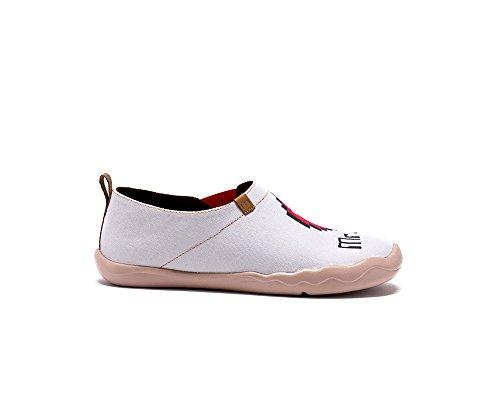 Sportives Pour M De Chaussures Mme Blanc Femme Uin Et Toiles Peintes H1qwUpw