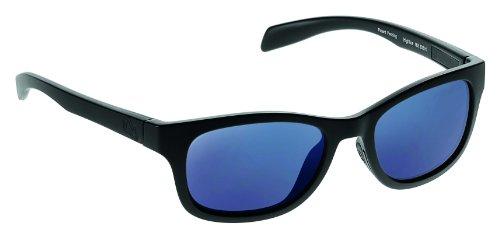 Native Eyewear Highline Polarized Sunglass, Asphalt and Black Frame/Blue Reflex - Sunglasses Tuff