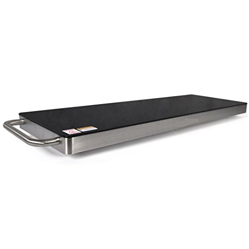 Countertop Steel Stainless Classic Barbecue - Stainless Steel Warming Hot Plate - Keep Food Warm w/ Portable Electric Food Tray Dish Warmer w/ Black Glass Top, For Restaurant, Parties, Buffet Serving, Table or Countertop Use - NutriChef AZPKWTR40