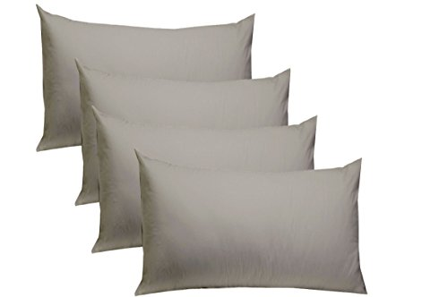 Cotton Craft - 4 Pack Pillow Cases - Standard 20x30 - Charco