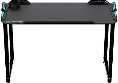 Newskill Fenrir - Escritorio Gaming Profesional con Iluminación RGB (controlable a través de su Touchpad Integrado) Color Negro de Diseño Ergonómico y entradas USB y de Audio integradas: Amazon.es: Informática