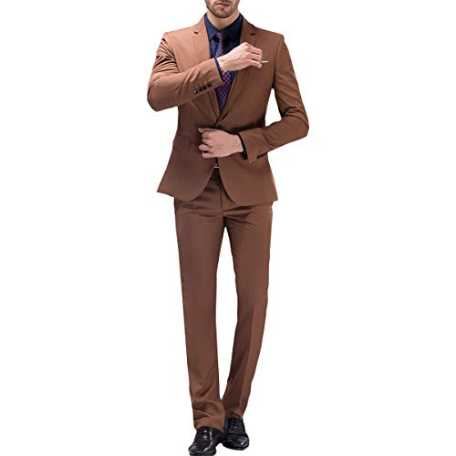 unita comoda Button One unita Slim Fit tinta da pezzi in Trendy tinta Tuta Khaki uomo Due con RE84qxw
