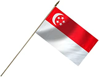 Singapore Flag 12X18 Inch Mounted E Poly