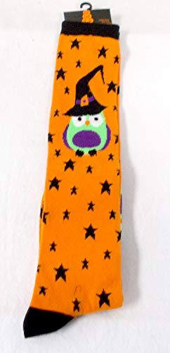 Shopko Halloween Knee High Socks Orange Black Stars